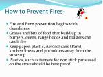 how to prevent fires