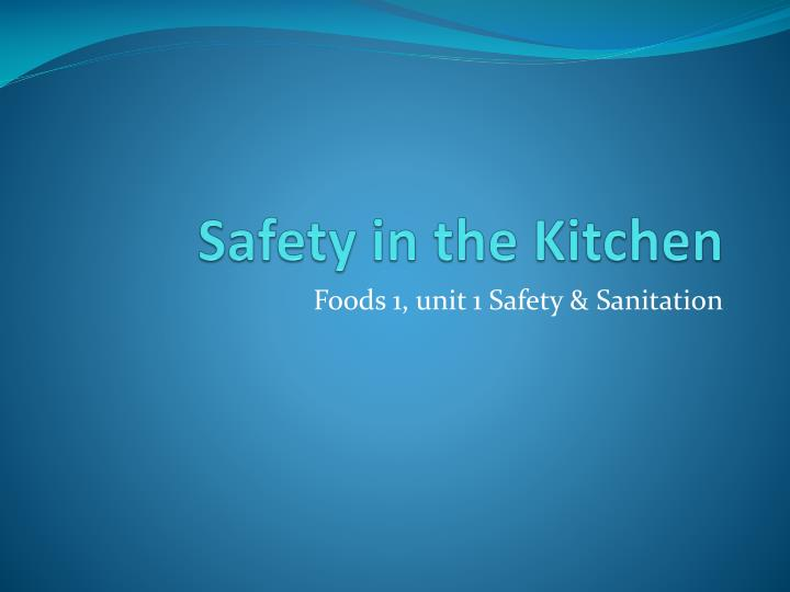 safety in the kitchen n.