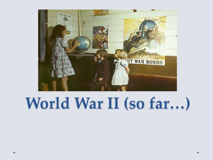 an analysis of the beginning of the world war ii Women and propaganda in america during world war ii: methods in which the united states propaganda organizations targeted various beginning in 1939 as the war.