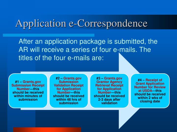 Application e-Correspondence