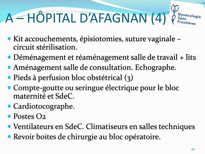 A – HÔPITAL D'AFAGNAN (4)