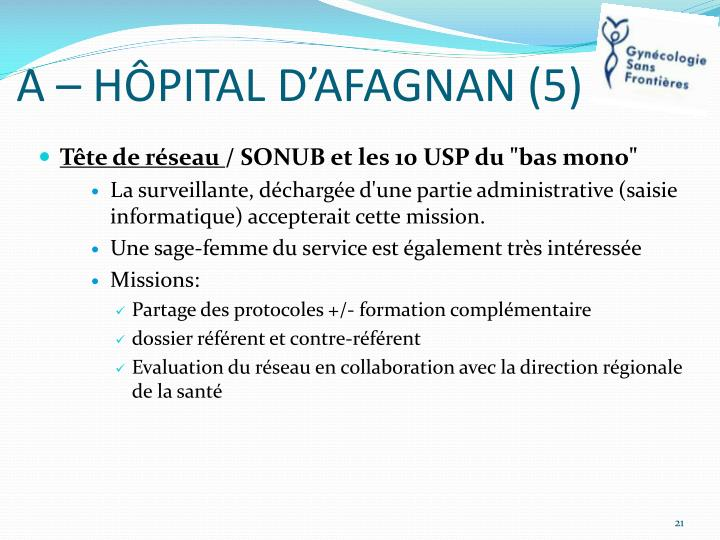 A – HÔPITAL D'AFAGNAN (5)