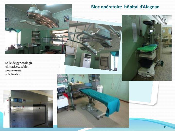 Bloc opératoire  hôpital d'