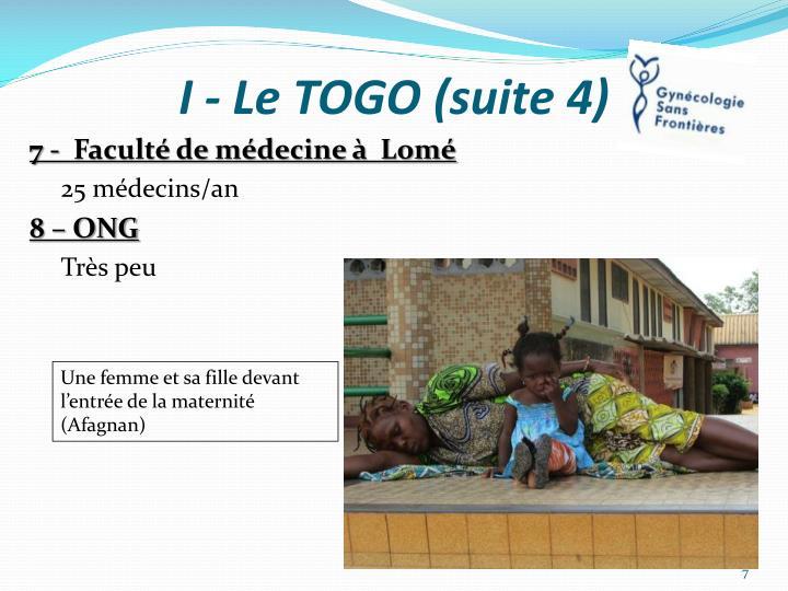 I - Le TOGO (suite 4)