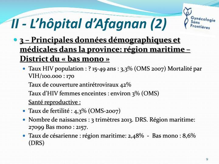 II - L'hôpital d'Afagnan (2)