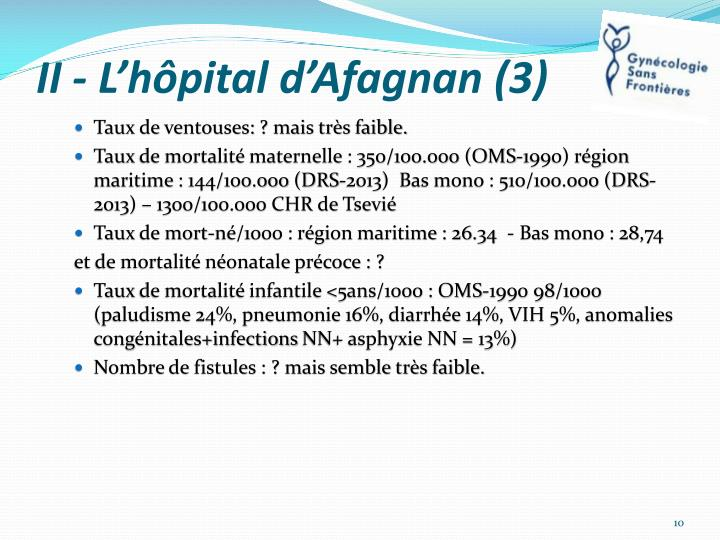 II - L'hôpital d'Afagnan (3)