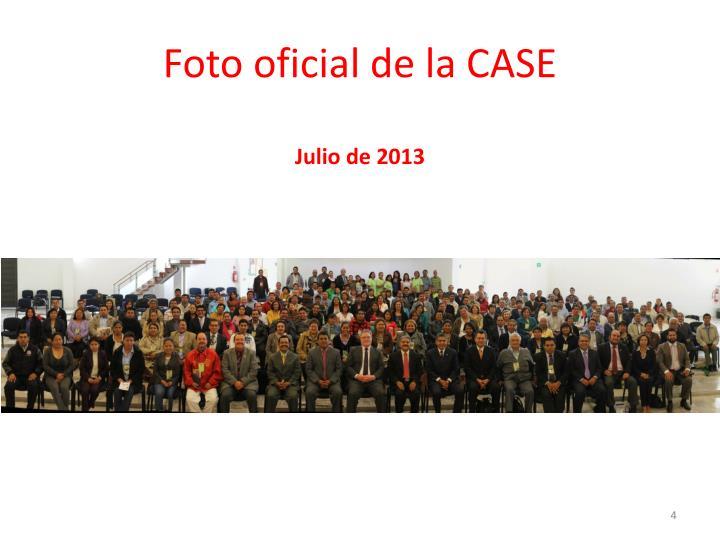 Foto oficial de la CASE