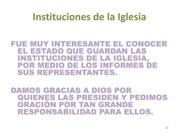 Instituciones de la Iglesia