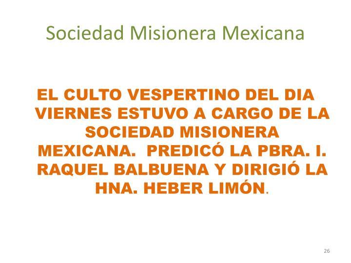 Sociedad Misionera Mexicana