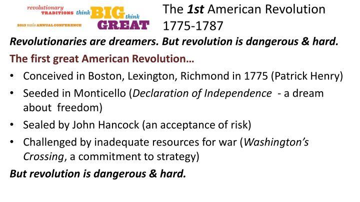 The 1st american revolution 1775 1787