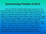 summarizing timeline of 9 11
