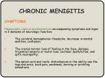 chronic menigitis