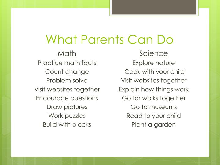 What Parents Can Do