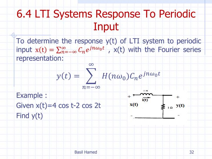 6.4 LTI Systems Response To Periodic Input