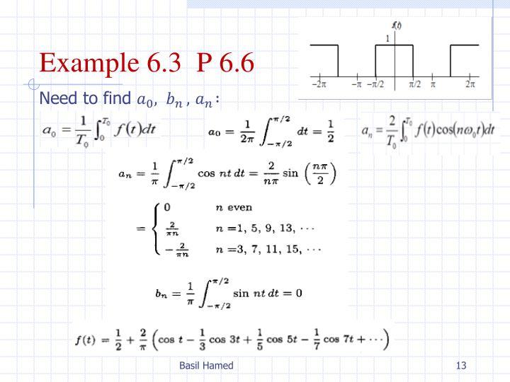 Example 6.3  P 6.6