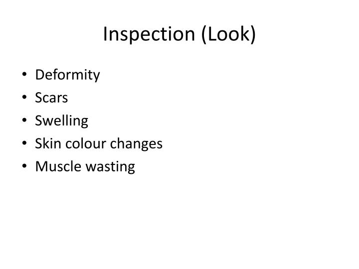 Inspection (Look)