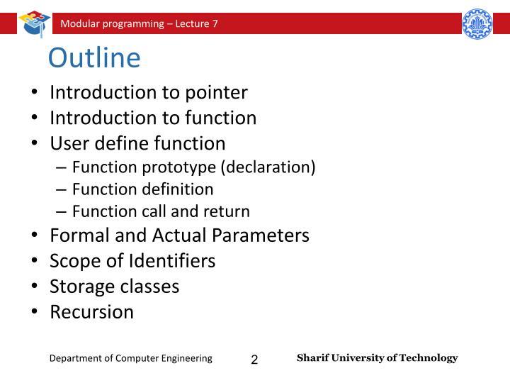 define formal outline