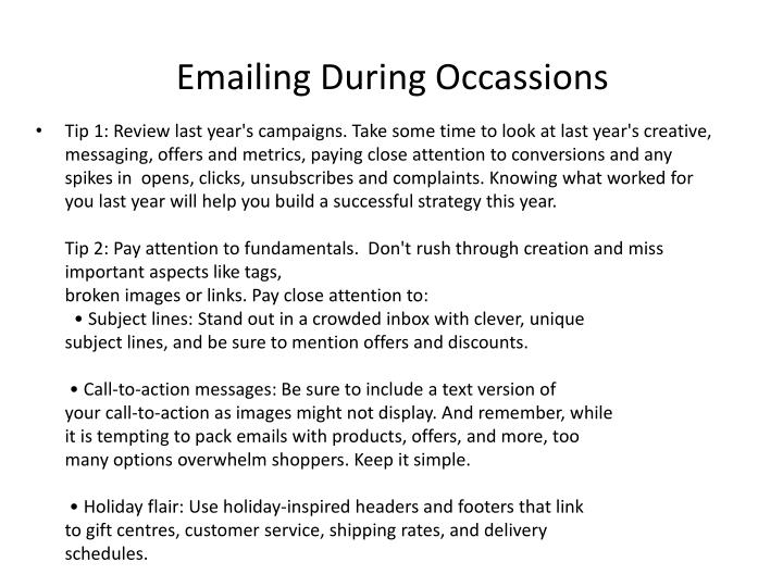 Emailing During