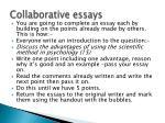 collaborative essays