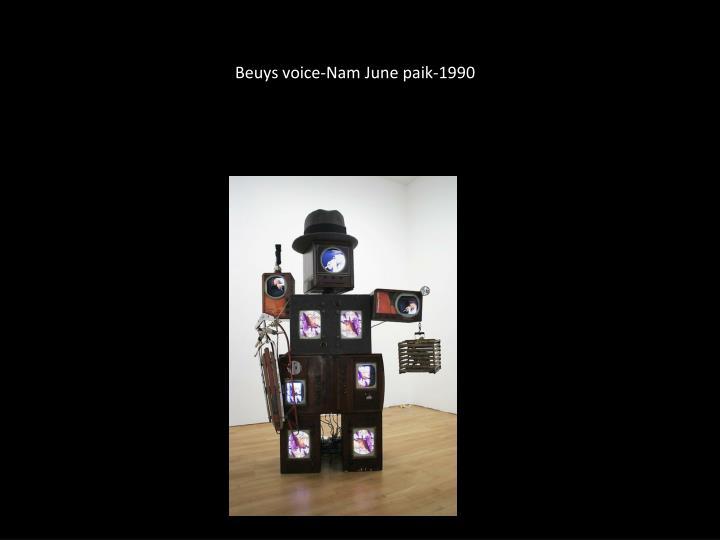 Beuys voice nam june paik 1990