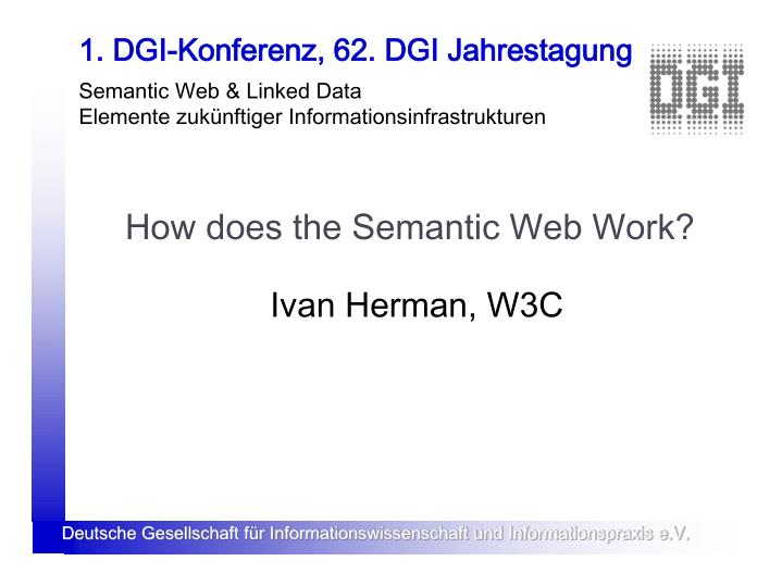 how does the semantic web work