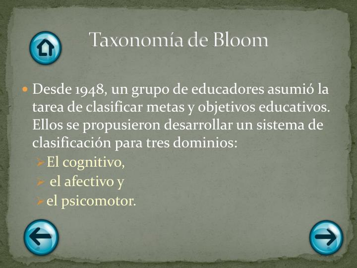 Taxonomía de