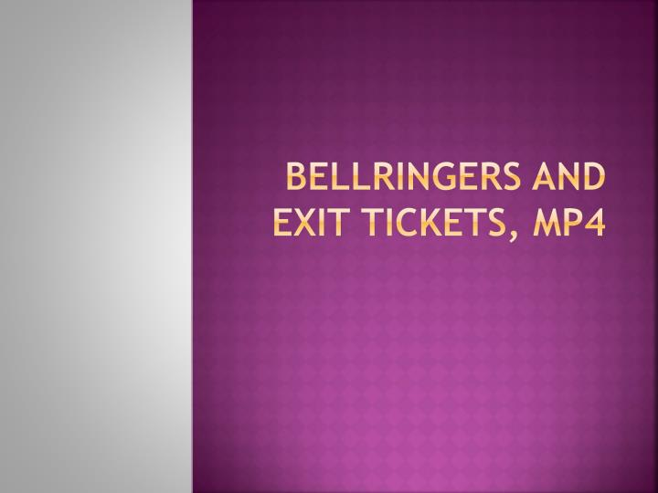bellringers and exit tickets mp4