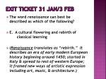 exit ticket 31 jan 3 feb1