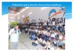 palestras para alunos de escolas p blicas