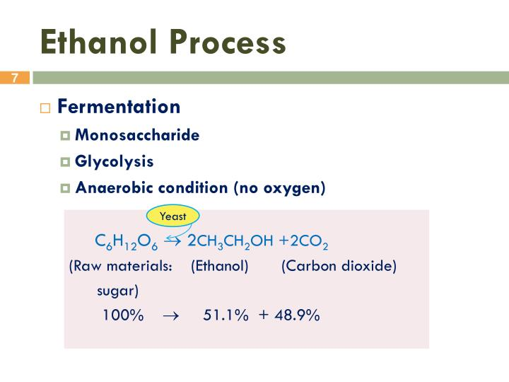 Ppt ethanol production powerpoint presentation id1950415 ethanol process toneelgroepblik Choice Image