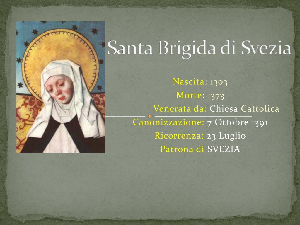 PPT - Santa Brigida di Svezia PowerPoint Presentation, free ...