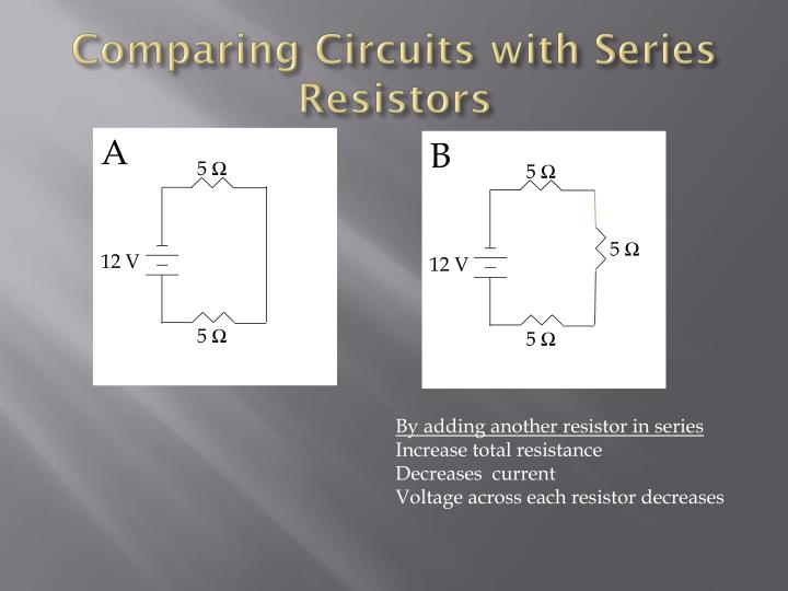 Comparing Circuits with Series Resistors