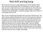 red shift and big bang1