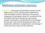 methane emission sources