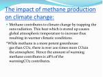 the impact of methane production on climate change