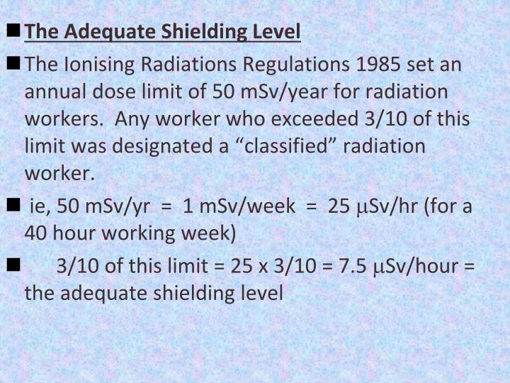 The Adequate Shielding