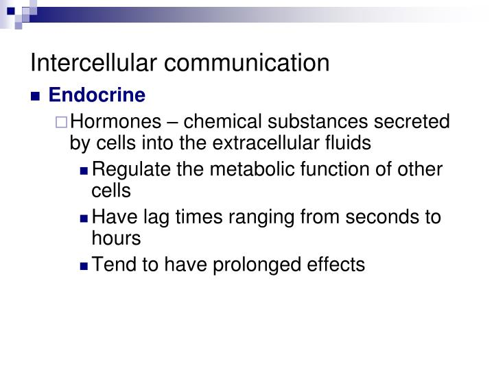 Intercellular communication
