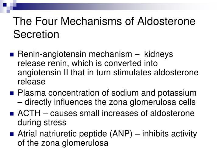 The Four Mechanisms of Aldosterone Secretion
