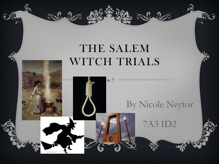 salem witch trial research papers Salem witchcraft trials records: formerly titled, salem witchcraft papers of the records of the salem witch-hunt is another transcription.