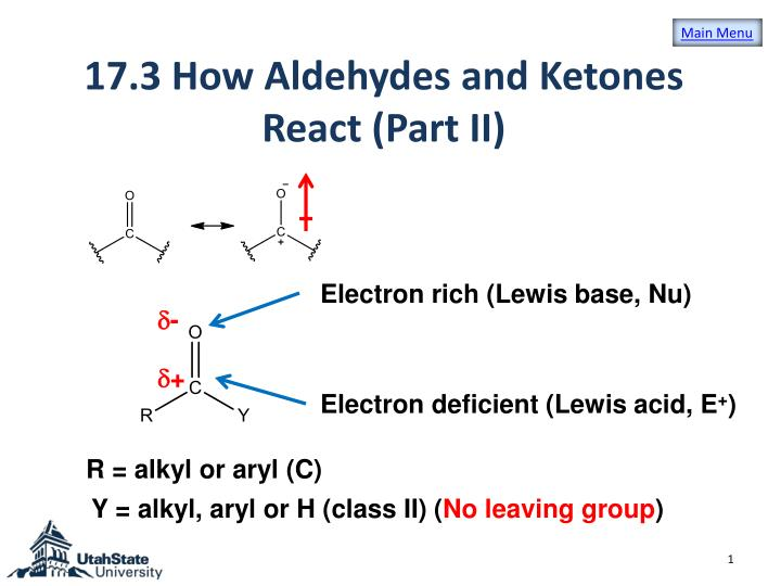 an experiment to determine the reactions of aldehydes and ketones Which combines the carbonyl group of aldehydes and ketones with  remove the corks and determine the ph of  experiment #10 properties of carboxylic acids and.