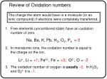 review of oxidation numbers