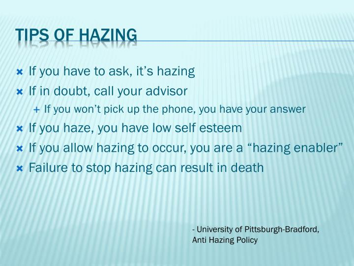 If you have to ask, it's hazing