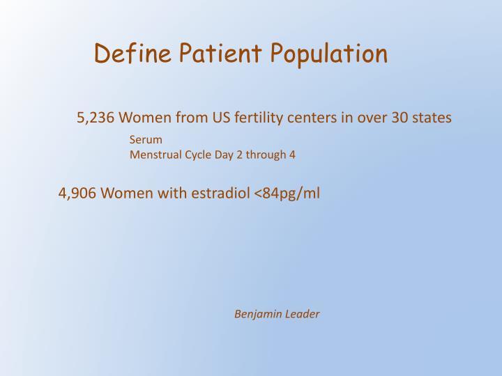 Define Patient Population