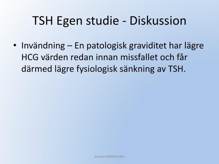 TSH Egen studie - Diskussion