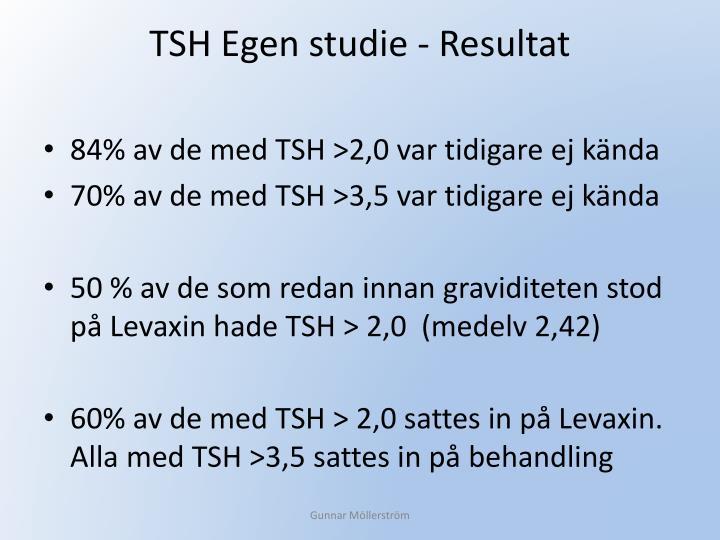 TSH Egen studie - Resultat