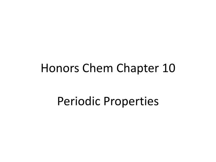 honors chem chapter 10 n.