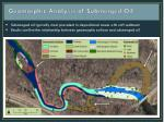 geomorphic analysis of submerged oil