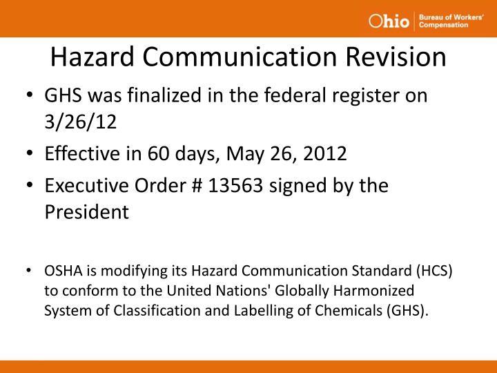 Hazard Communication Revision