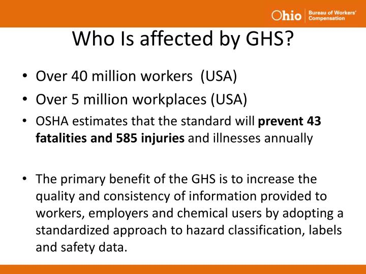 Who Is affected by GHS?