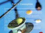 part 1 conception